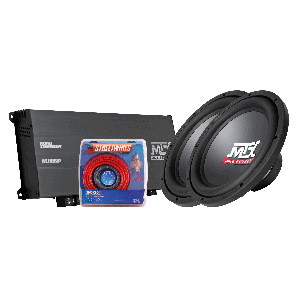 "Roadthunder 1000W Amp & Two 12"" Dual 4-Ohm Subwoofers"