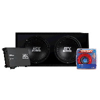 "Roadthunder 500W Monoblock Dual 12"" Enclosed Subwoofer Package"