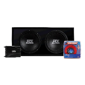 "TD Series 500W Amp & Dual 12"" 2-ohm Roadthunder Subwoofers in Vented Enclosure"