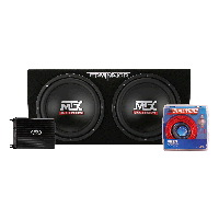 "Thunder Series 500W Amp & Dual 12"" Terminator Subwoofers in Sealed Enclosure"