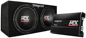 Picture of Terminator TNP212D2 Dual 12 inch 400W RMS Sealed Enclosure and Mono Block Amplifier