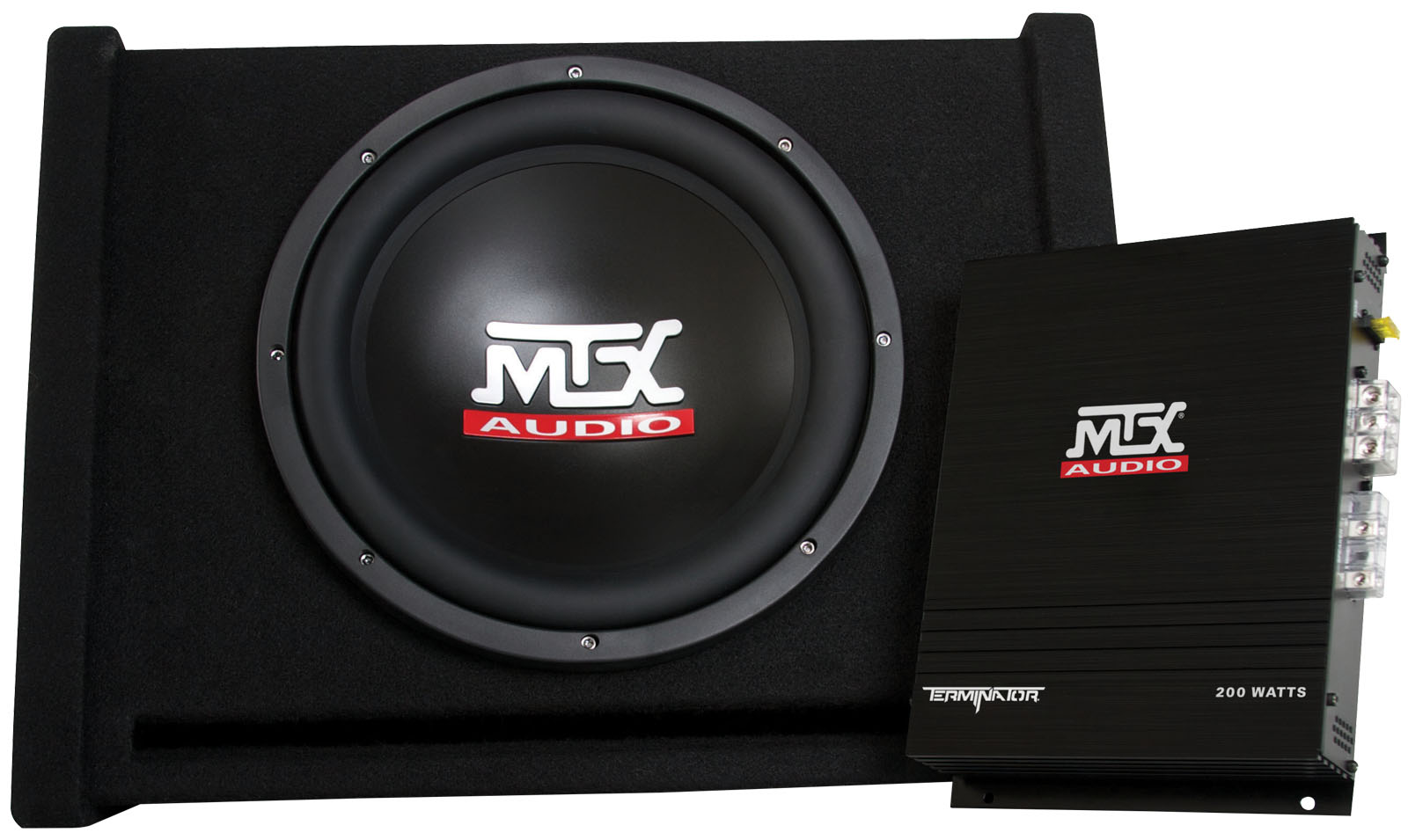 Tnp112d Mtx Car Subwoofer Enclosure And Amplifier Mtx