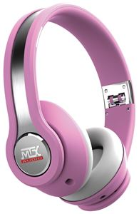 MTX iX1 PINK On Ear Headphones - Pink/Grey