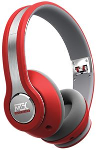 Picture of StreetAudio iX1 RED On Ear Headphones - Red/Grey