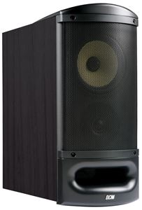TFE60-B Black Home Theater Bookshelf Speaker with Grille