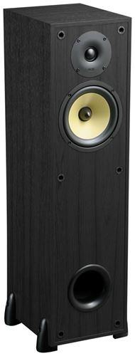 TP160-CH Black Home Theater Cabinet Speaker without Grille