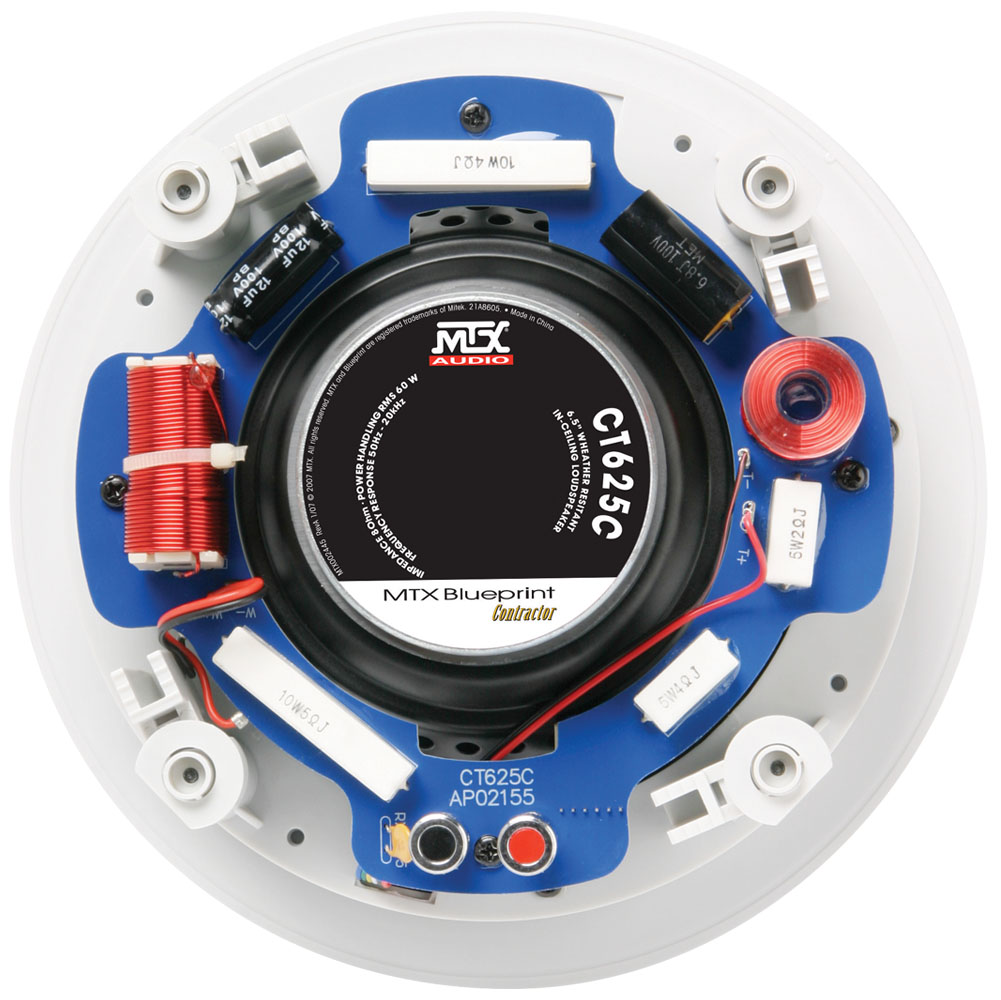 Ct625c 65 8 Ohm In Ceiling Speaker Pair Mtx Audio Serious Likewise 2 Subwoofer Wiring Diagram Additionally About Sound