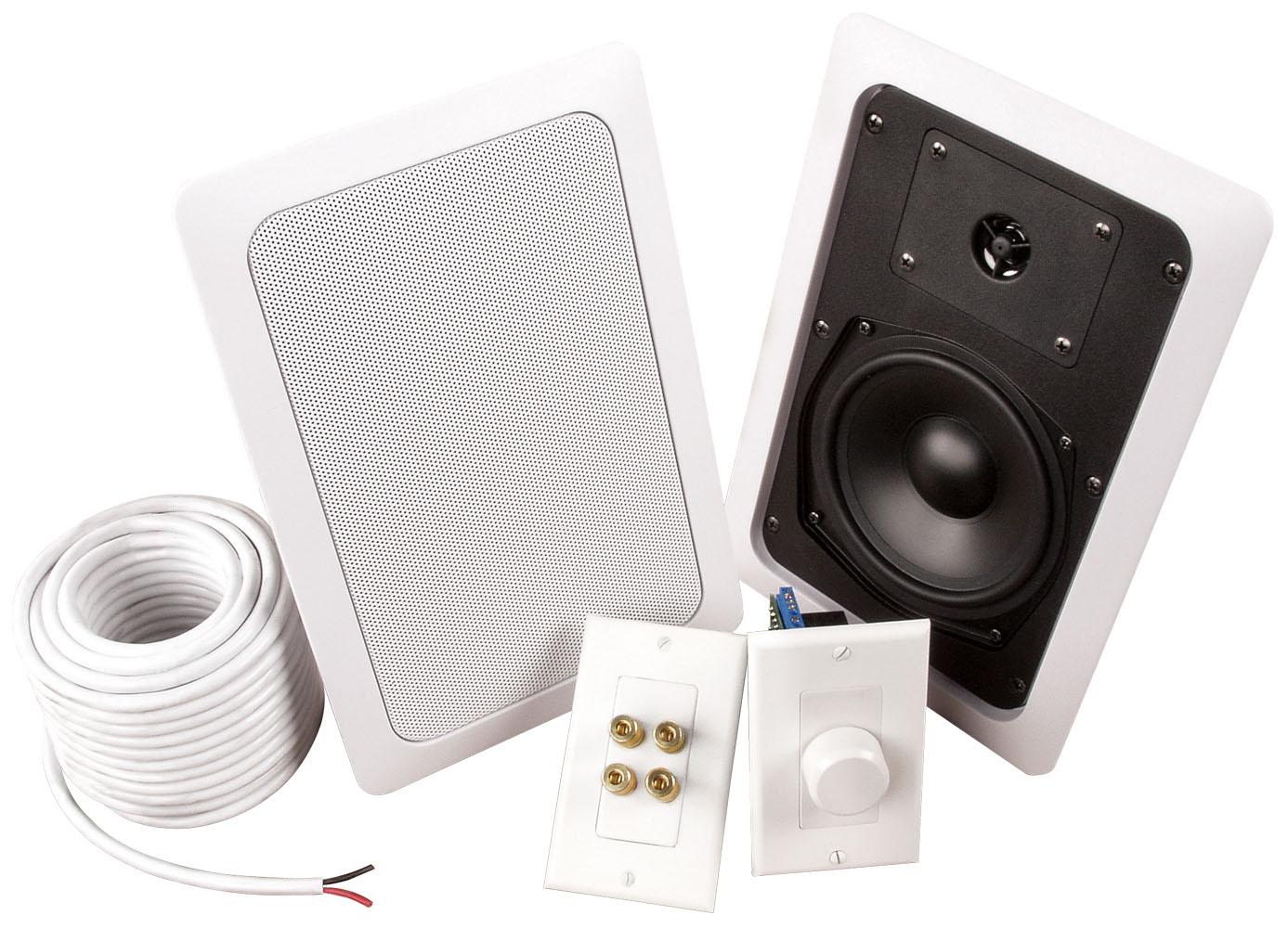 MUSICA ADZ502W 5 25 inch 2-Way In-Wall Add A Zone Speaker Kit