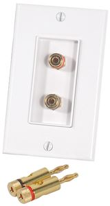 Picture of Musica BP-2A Dual Binding Post Wall Plate