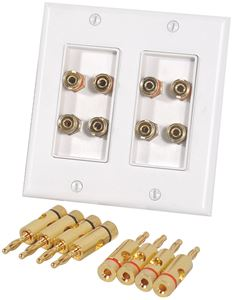 Picture of Musica BP-8W 4 Pair Dual Binding Post Wall Plate
