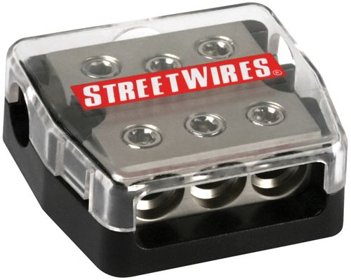 Picture of MTX StreetWires DBX3434 4 AWG 3 In/3 Out Distribution Block