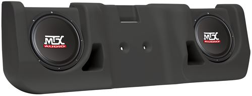 Picture of Chevrolet Silverado Extended Cab Amplified Dual 10 inch 200W RMS Vehicle Specific Custom Subwoofer Enclosure