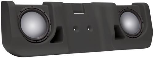 Picture of Chevrolet Silverado Extended Cab Unloaded Dual 10 inch Vehicle Specific Custom Subwoofer Enclosure