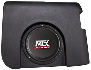 Picture of Chevrolet Silverado Crew Cab Amplified 10 inch 200W RMS Vehicle Specific Custom Subwoofer Enclosure