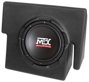 Picture of Dodge Dakota Quad Cab Amplified 10 inch 200W RMS Vehicle Specific Custom Subwoofer Enclosure
