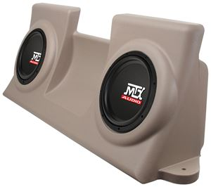 Picture of Ford F-150 Regular Cab Amplified Dual 10 inch 200W RMS Vehicle Specific Custom Subwoofer Enclosure