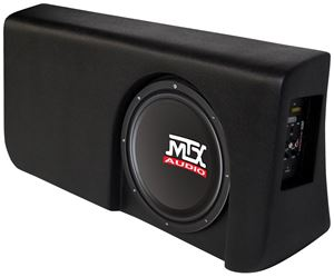 Picture of Ford F-150 Super Crew Cab Amplified 10 inch 200W RMS Vehicle Specific Custom Subwoofer Enclosure