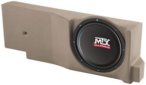 Picture of Ford F-150 Crew/Extended Cab Amplified 12 inch 200W RMS Vehicle Specific Custom Subwoofer Enclosure