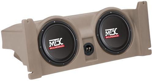 Picture of Jeep Wrangler TJ Amplified Dual 10 inch 400W RMS Vehicle Specific Custom Subwoofer Enclosure