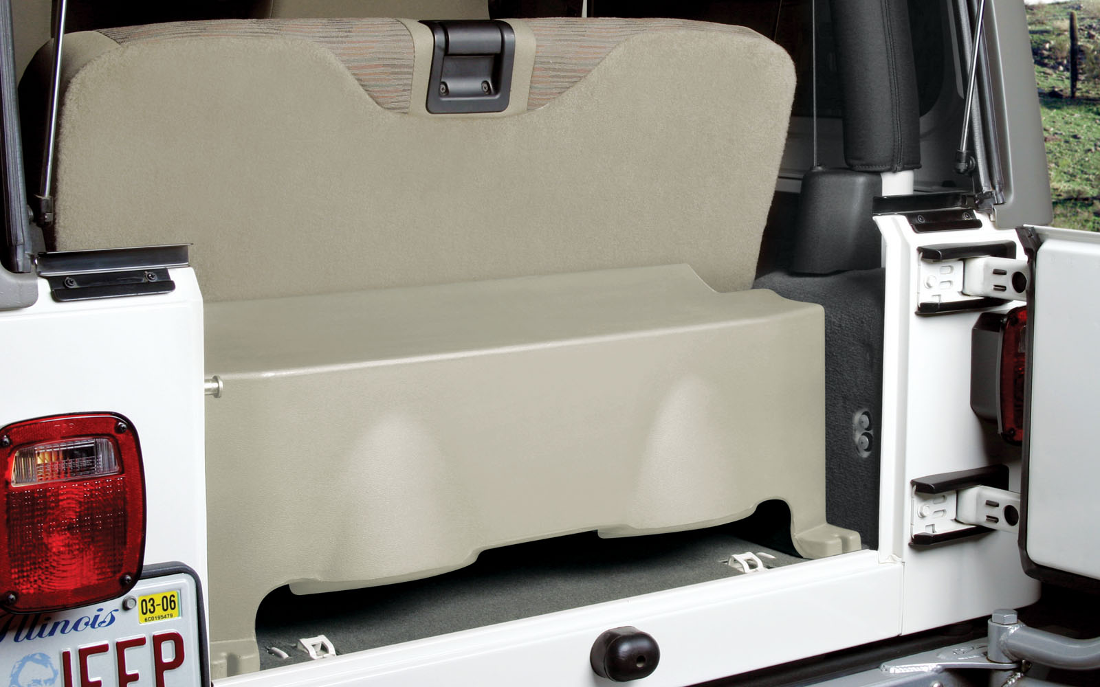 Jeep Wrangler Tj 1997 2006 Thunderform Custom Subwoofer Enclosure Rear Wiring Mtx Audio Serious About Sound