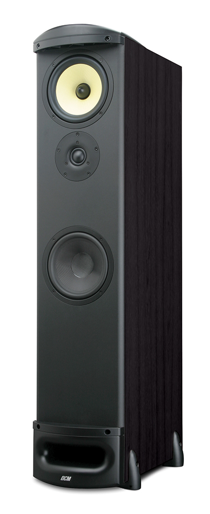 tfe100 b 6 5 dcm 8 ohm tower cabinet speaker black. Black Bedroom Furniture Sets. Home Design Ideas