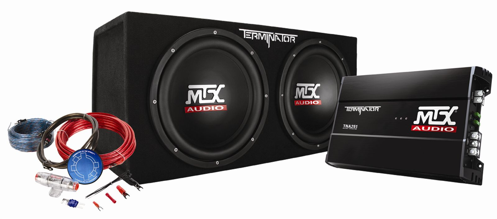 Tnp212d2kit Mtx Car Subwoofer Enclosure Amp Wiring Pckg Audio 800 Watt Amplifier Kit Serious About Sound