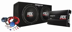 Picture of Terminator TNP212D2KIT Dual 12 inch 400W RMS Sealed Enclosure, Mono Block Amplifier, and Accessory Bundled Kit