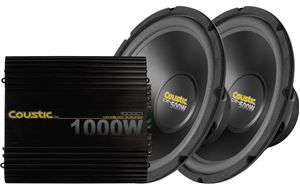 Picture of Coustic 1000C1 Amplifier and Dual 12 inch Subwoofer Package