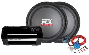 Picture of Thunder Elite TE602 Car Amplifier and RTS15 Car Subwoofer