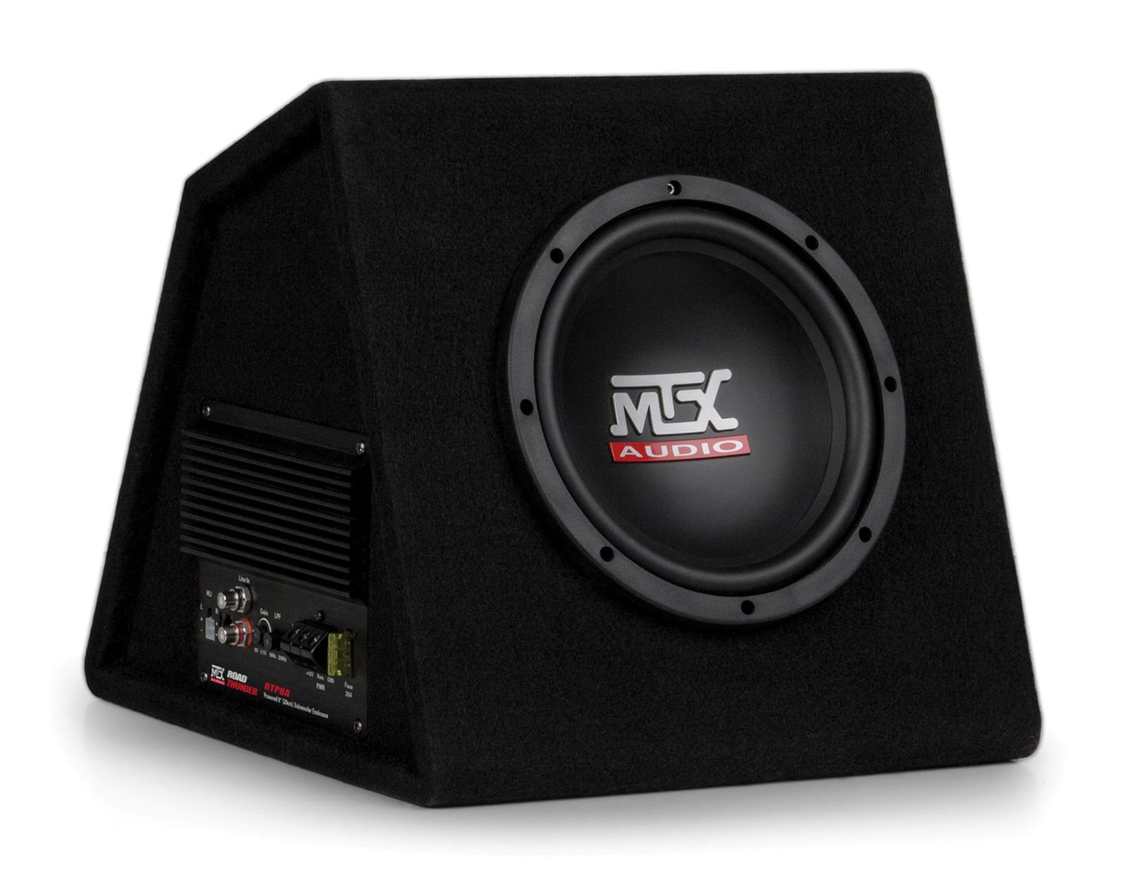 rtp8a amplified 8 subwoofer enclosure mtx audio serious about rh mtx com JL Audio Amps Car Audio Amps