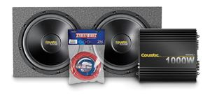 Picture of Coustic Amplifier, Subwoofers, Enclosure, and Wire Package