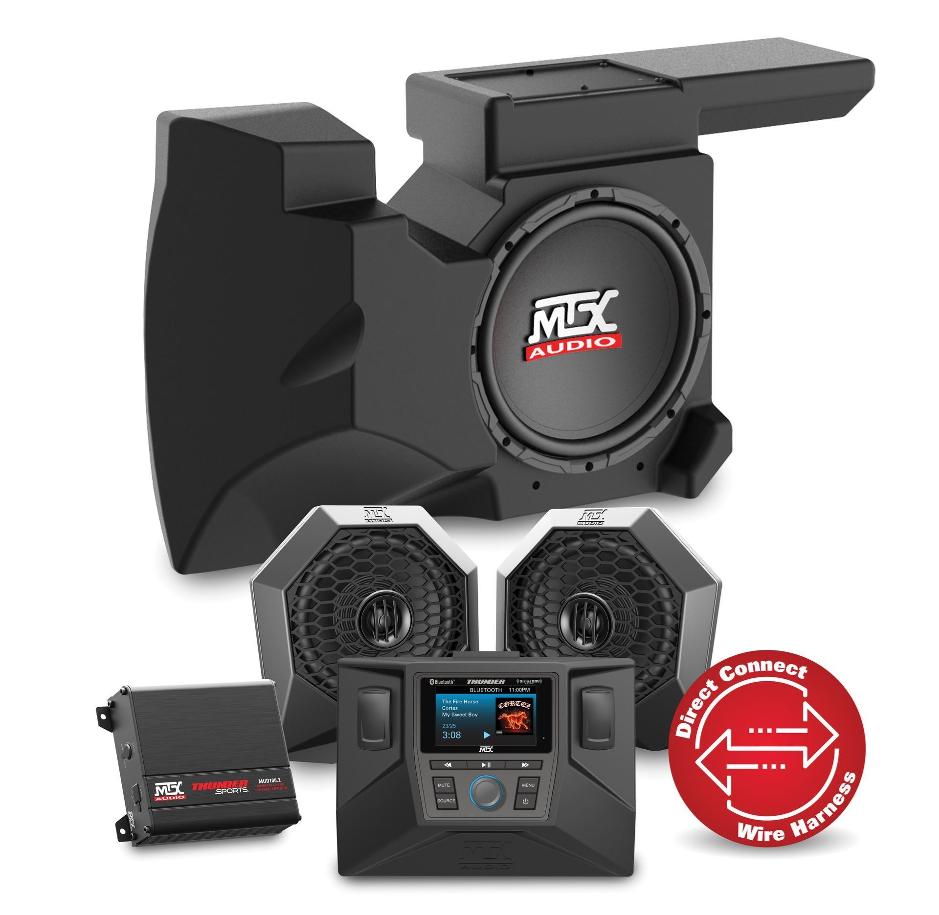 Rzrsystem2 Level 2 Complete Audio System For Polaris Rzr Xp1000 And Fire 07 Jk Fuse Box 900 With Headunit Channel Amplifier Dash Mount Speaker Pods Amplified Subwoofer