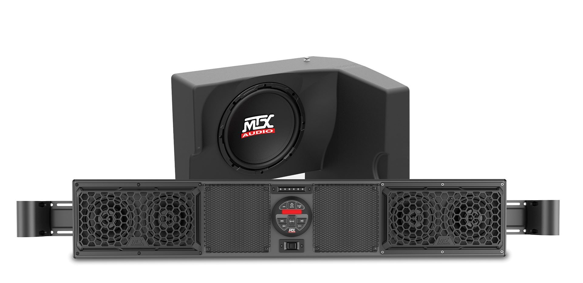 9b8378a2a7e RANGERBOAKIT1 Polaris Ranger Bluetooth Overhead Audio System and Amplified  Subwoofer