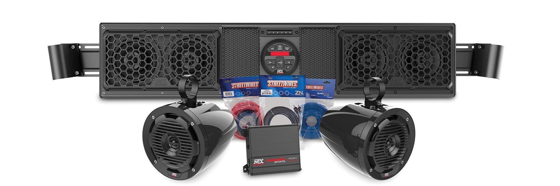 Maverickboakit2 Can Am Maverick Bluetooth Sound Bar Amplifier And