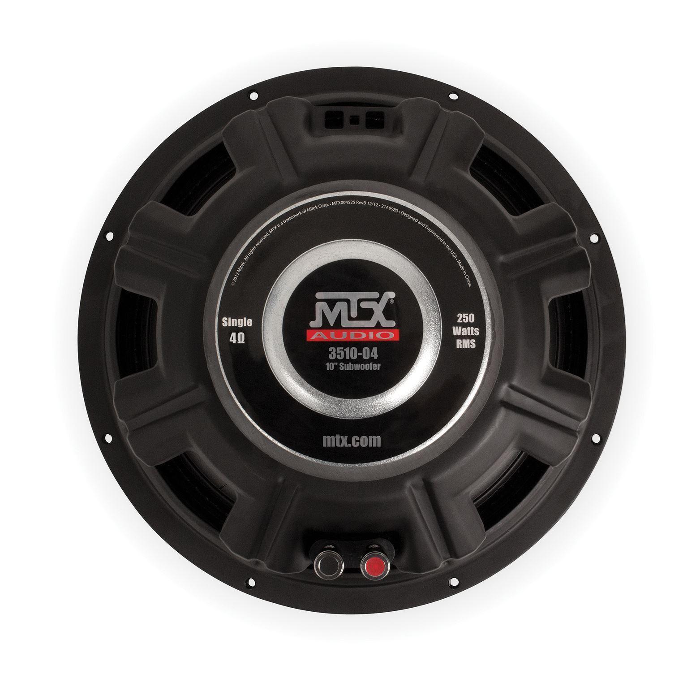 35 series 10 4 single voice coil subwoofer mtx audio serious 3510 04 car audio subwoofer back publicscrutiny Gallery
