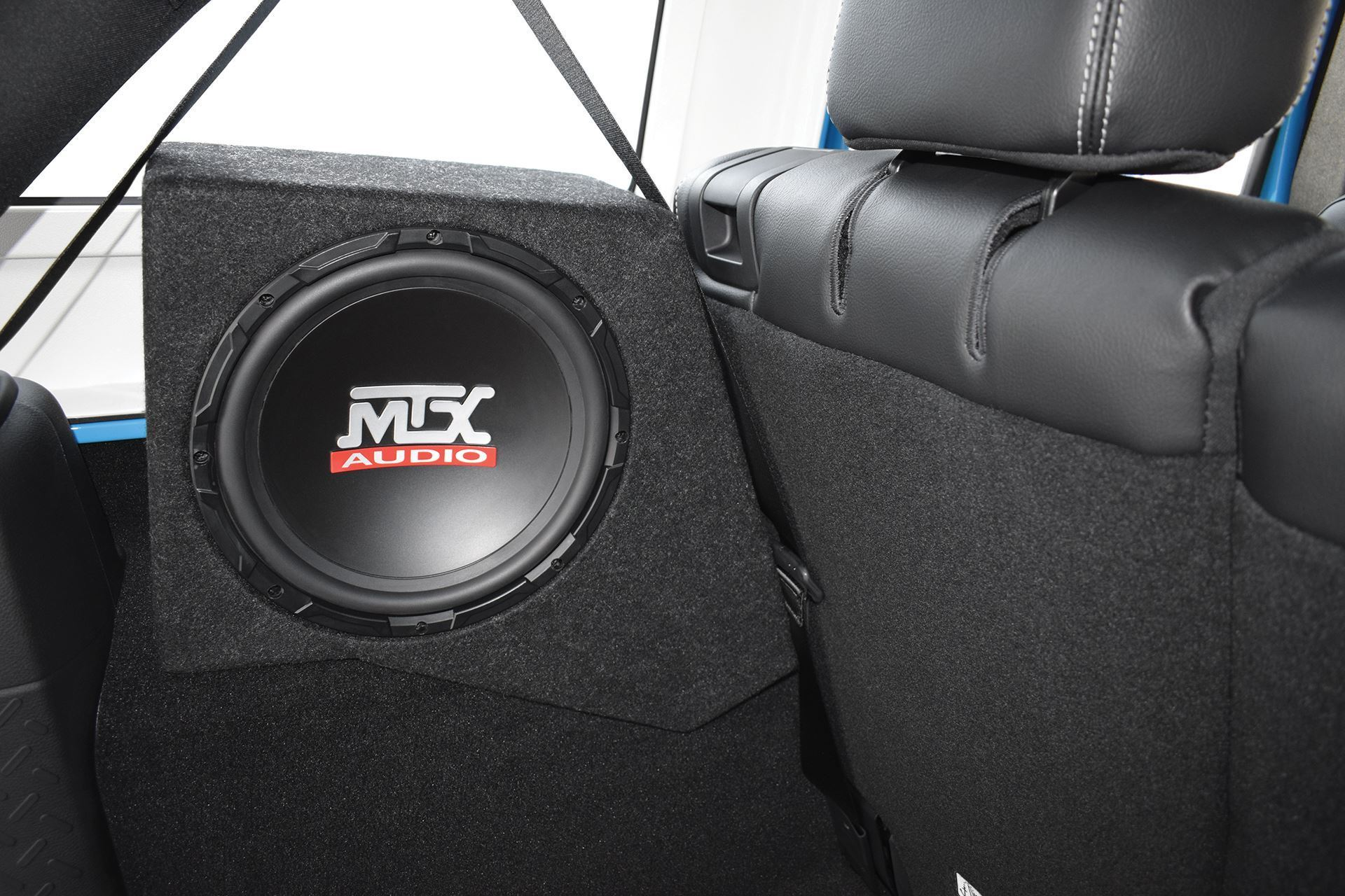 jeep wrangler jk 2007 2016 thunderform custom subwoofer enclosure rh mtx com jeep wrangler jk subwoofer box plans jeep wrangler jk 4 door subwoofer box