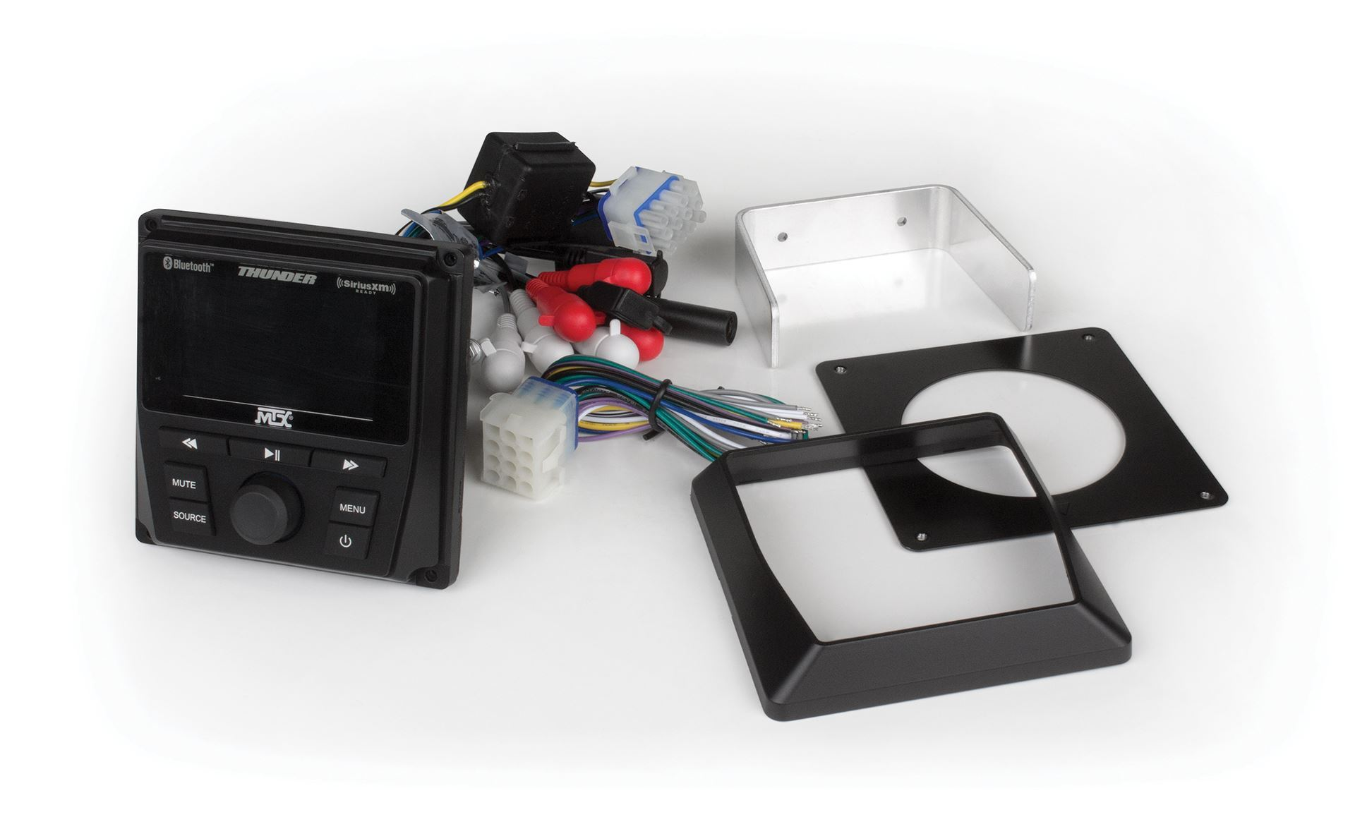 MTX AWMC3 All-Weather Bluetooth Media Controller for UTV and Marine Satellite Ready with AM//FM//WB