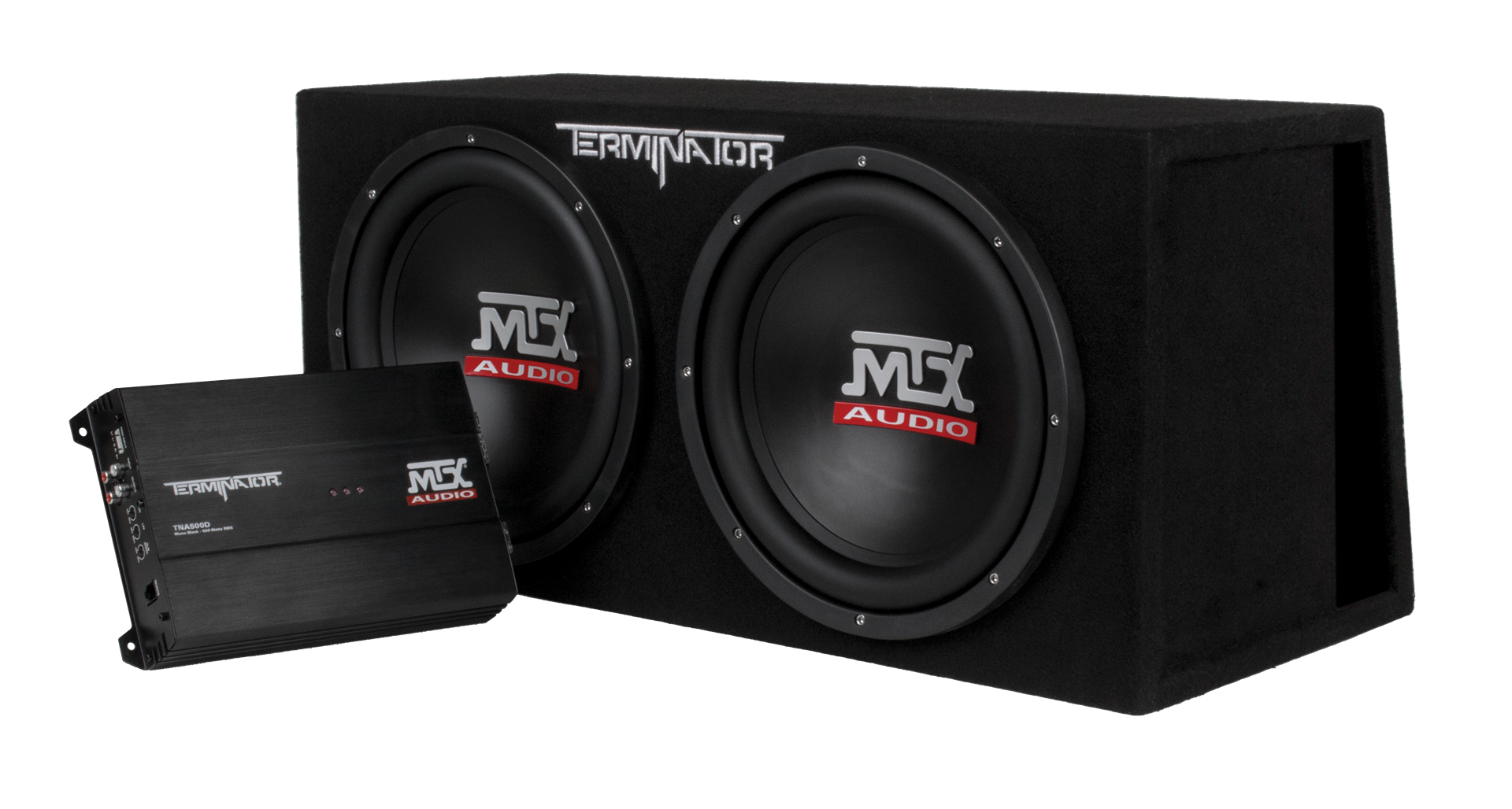 "TNP212DV Dual 12"" Subwoofer Enclosure And Amplifier Party Package 
