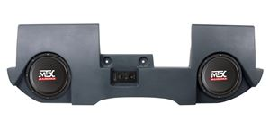 Picture of Dodge Ram Quad and Crew Cab Amplified Dual 10 inch 200W RMS Vehicle Specific Custom Subwoofer Enclosure