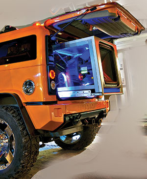 MTX Jackhammer Car Audio Subwoofer in Hummer