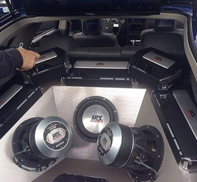 when to add capacitors to your car subwoofer system mtx audio large mtx subwoofer and amplifier system