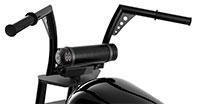 MTX MUDHSB-B Bluetooth Soundbar Mounted on Motorcycle