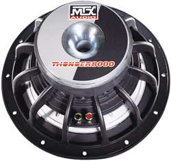 MTX 2001 Thunder8000 Subwoofer back