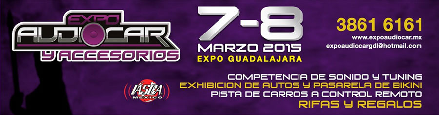 MTX at AudioCar Expo in Guadalajara Mexico banner