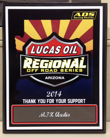 MTX Lucas Oil Off-Road Series Support recognition