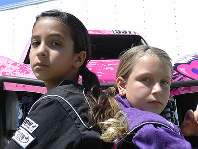 Mia Chapman and Kali Kinsman of Pink Motorsports
