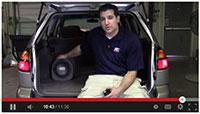 MTX RT8PT Car Subwoofer Install Video