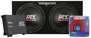MTX Terminator Loaded Car Subwoofer Package